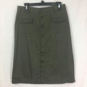 Gap Khakis Button Up Skirt Size 6